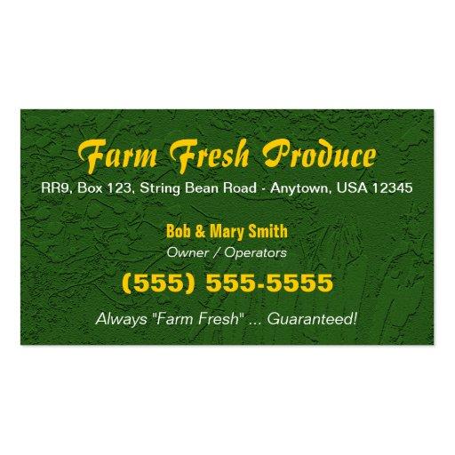 Farm / Farming Business Card