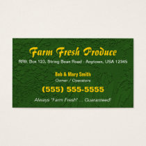 Farm / Farming Business Card