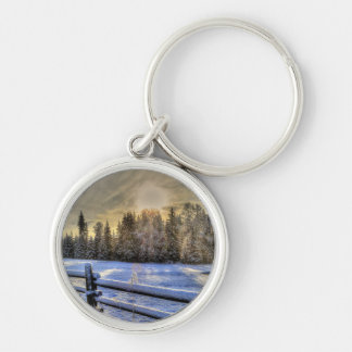 Farm Field, Meadow, Pasture, Paddock Keychain