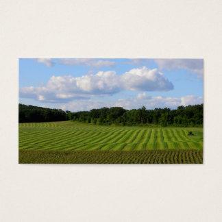 Farm field striped land farmer harvesting photo business card