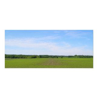 Farm fields crops blue skies midwest landscape invite