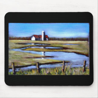 FARM FIELDS IN SPRINGTIME MOUSE PAD