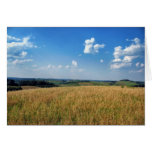 Farm Fields View Greeting Cards