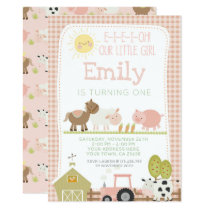 Farm First Birthday Invitation