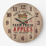 Farm Fresh 🍎 Apples in a Vintage Large Clock