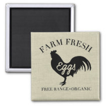 Farm Fresh Chicken Country Silhouette Magnet