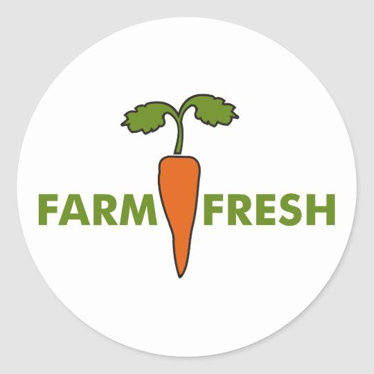 Farm Fresh Classic Round Sticker