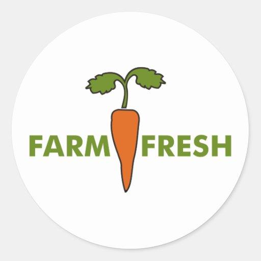 Farm Fresh Classic Round Sticker