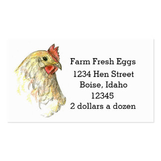 Farm Fresh Eggs Chicken Hen Drawing Business Card