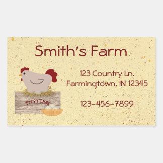 Farm Fresh Eggs Custom Sticker