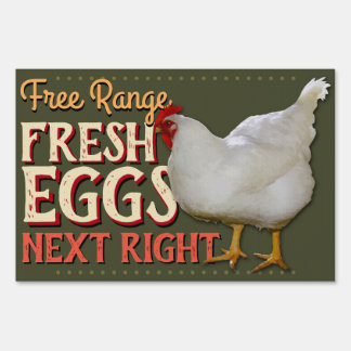 Farm Fresh Eggs Customizable 2-Sided Sale Sign