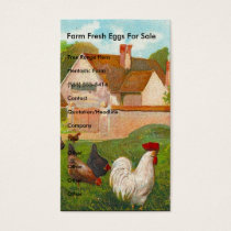 Farm Fresh Eggs For Sale Business Card