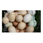 Farm Fresh Eggs For Sale Business Card Template