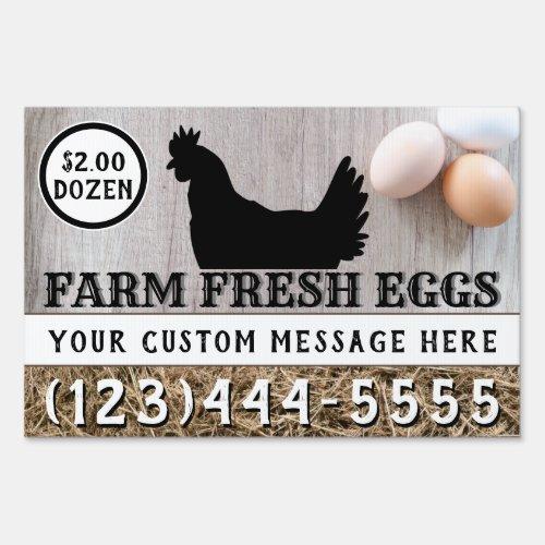 Farm Fresh Eggs For Sale Custom Two Sided Chicken Sign