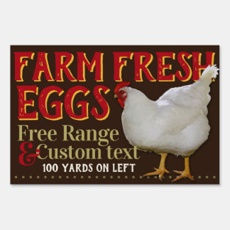 Farm Fresh Eggs For Sale Customizable Sign
