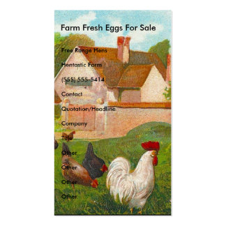 Farm Fresh Eggs For Sale Double-Sided Standard Business Cards (Pack Of 100)