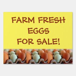 FARM FRESH EGGS FOR SALE  Yard Sign