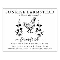 Farm Fresh Eggs |  Monogram Egg Carton Stamp