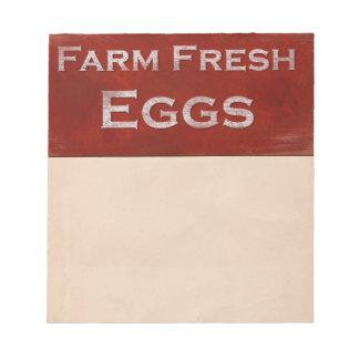 Farm Fresh Eggs Notepad