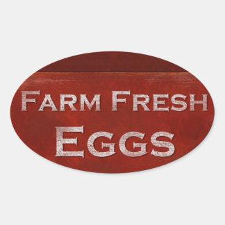 Farm Fresh Eggs Oval Sticker