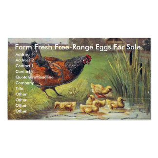 Farm Fresh Free-Range Eggs For Sale Double-Sided Standard Business Cards (Pack Of 100)