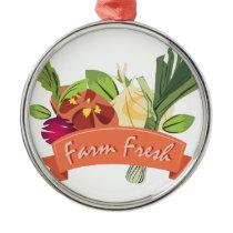 Farm Fresh Metal Ornament