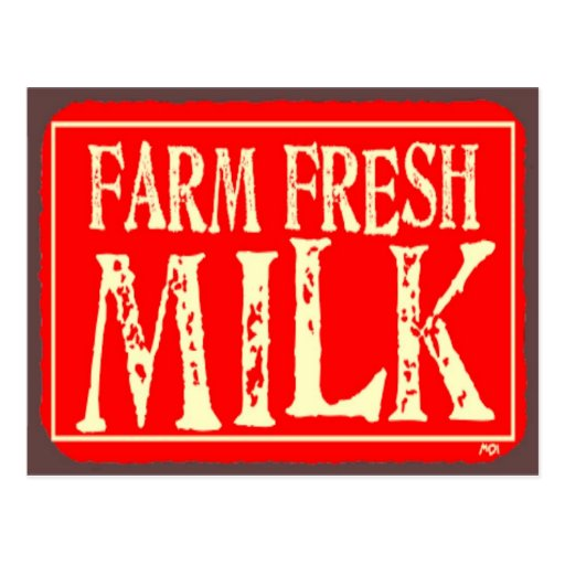 'Farm Fresh' Postcard