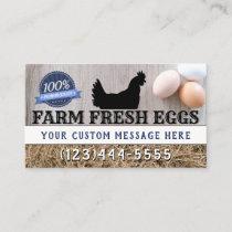 Farm Fresh Premium Quality Chicken Eggs Modern Business Card