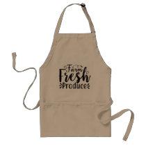 Farm fresh Produce word art Adult Apron