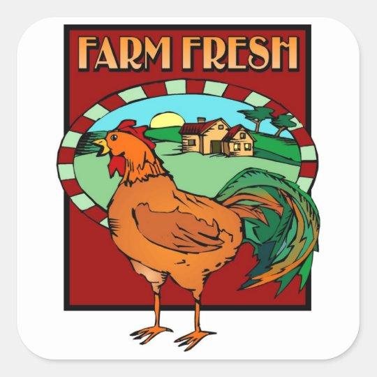 Farm Fresh Square Sticker