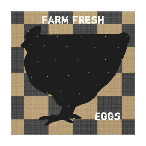 Farm Fresh Stretched Canvas Print