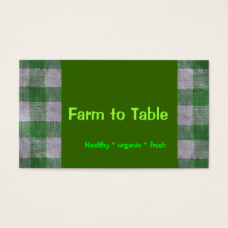 Farm fresh vegetables business card