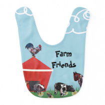 Farm Friends Baby Bib