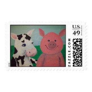 Farm Friends Stamp