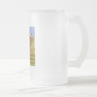Farm Frosted Glass Beer Mug