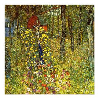 Farm Garden with Crucifix by Gustav Klimt Invites