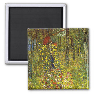 Farm Garden with Crucifix by Gustav Klimt Magnet