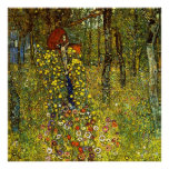 Farm Garden with Crucifix by Gustav Klimt Poster