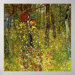 Farm Garden with Crucifix by Gustav Klimt Posters