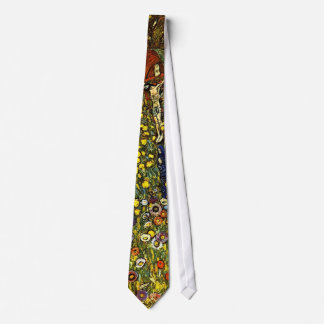 Farm Garden with Crucifix by Gustav Klimt Tie