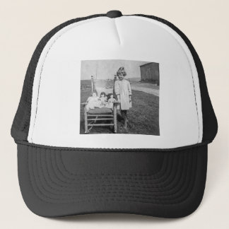 Farm Girl and Her Doll Friends Vintage Trucker Hat