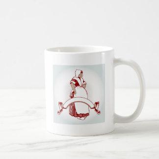 farm girl emblem classic white coffee mug