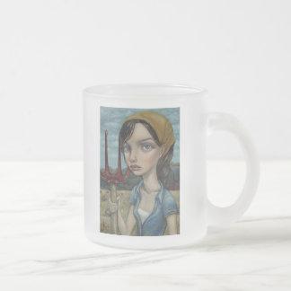 Farm Girl Frosted Glass Coffee Mug