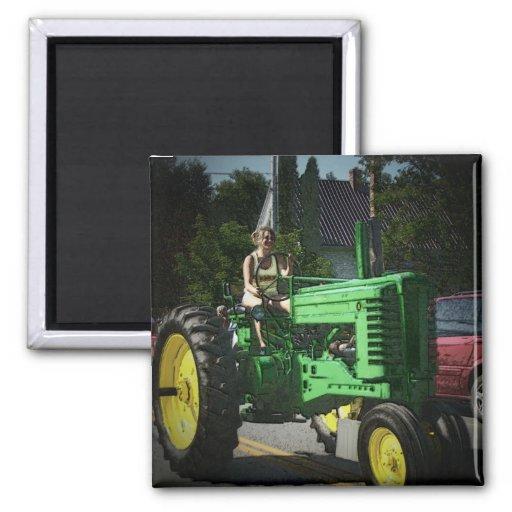 Farm Girl Fridge Magnets