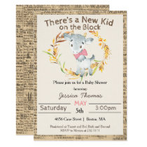 Farm Goat Girl Baby Shower Invitation
