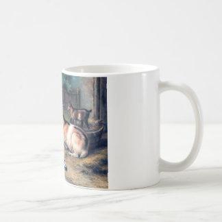 Farm Goat Kids Pigeons Classic White Coffee Mug