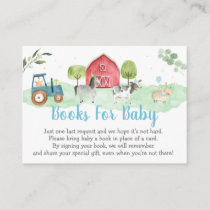 Farm Greenery Baby Shower Book Request Enclosure Card