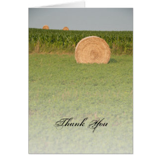 Farm Hay Bales Country Thank You Card