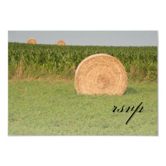 "Farm Hay Bales Country Wedding Response Card 3.5"" X 5"" Invitation Card"