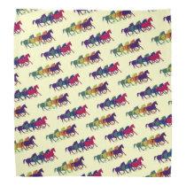 farm horses graphic pattern bandana